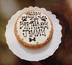 Yummy Birthday Cake from Three Dog Bakery!